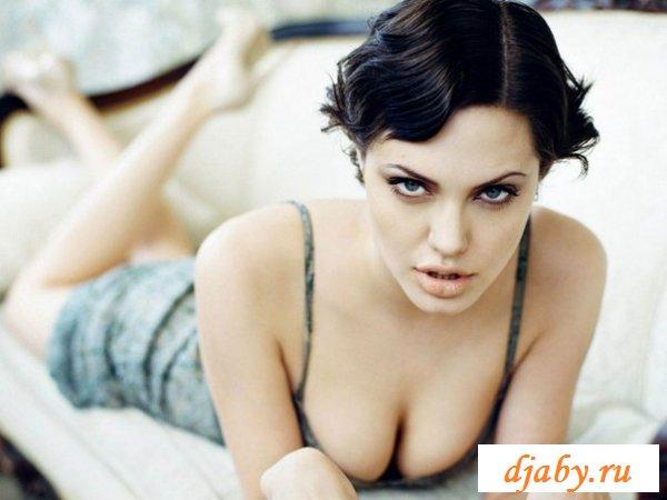 Голая Анджелина Джоли баловала интернет сиськами (8 фото эротика)