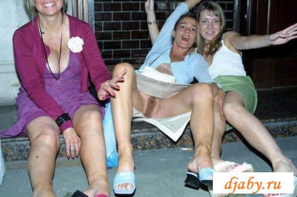 Развратное веселье пьяных прошмандовок