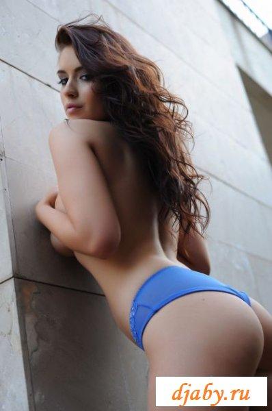 Отвязная сучечка в синем белье
