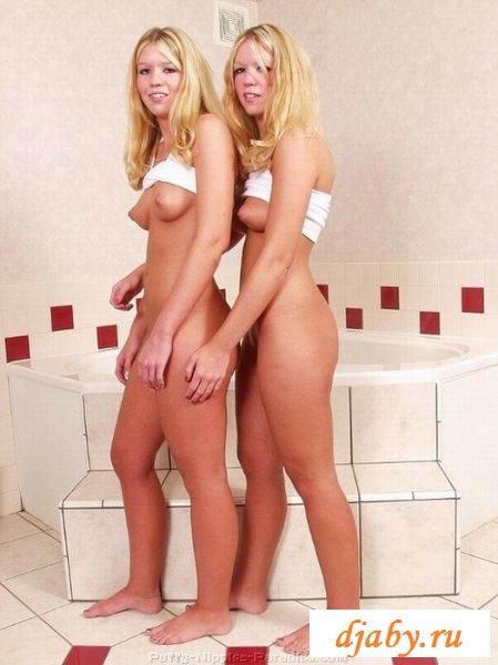 Сексапильные близняшки с худенькими телами