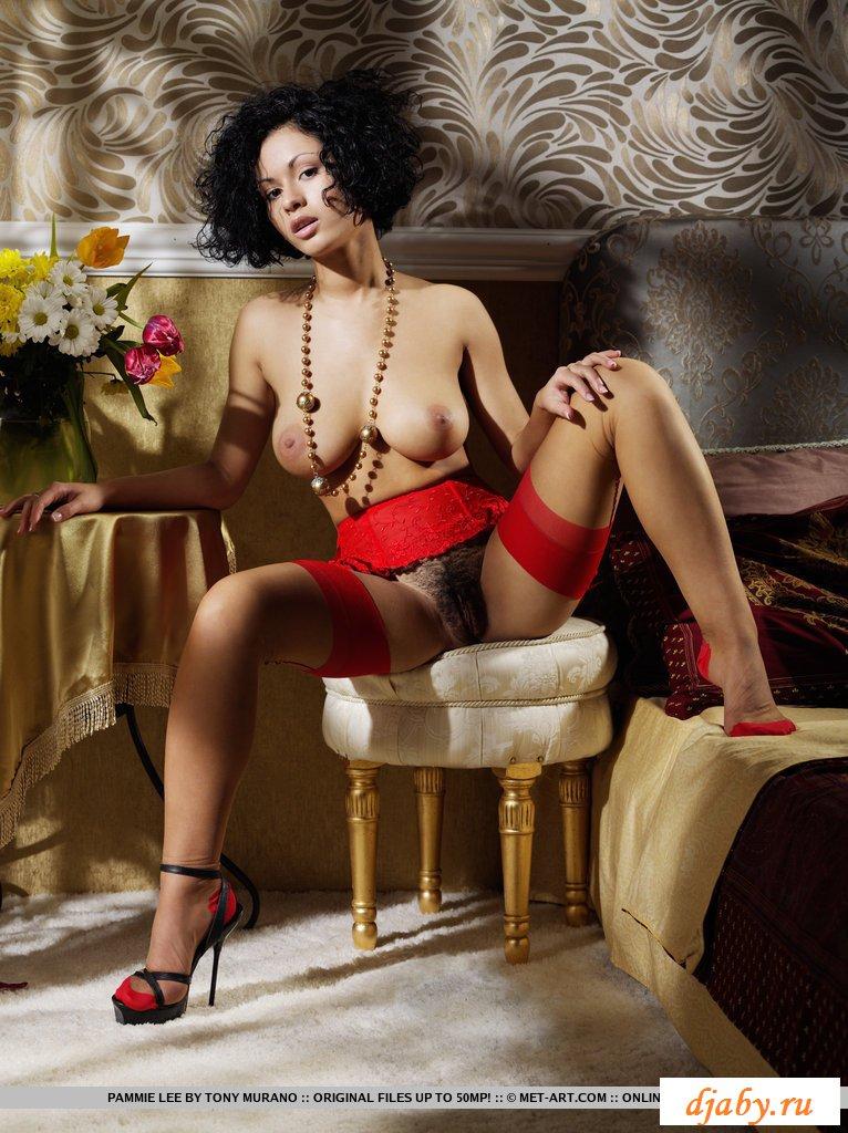 Красочная эротика с красивыми ножками в кружевах