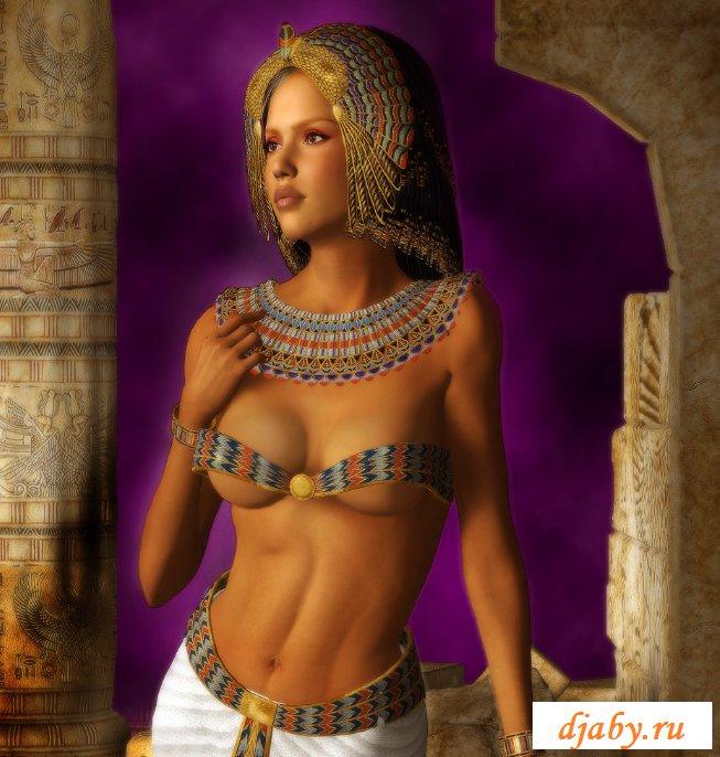 Красивая голая египтянка